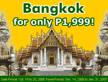 Bangkok via Cebu Pacific
