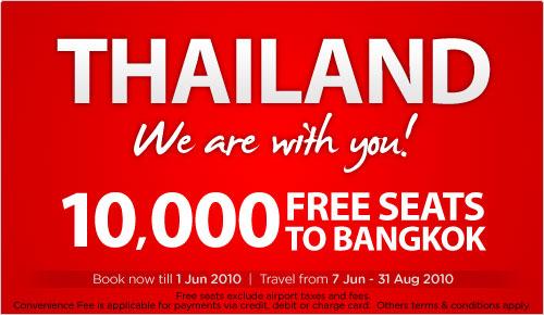 Air Asia Bangkok Zero Fare