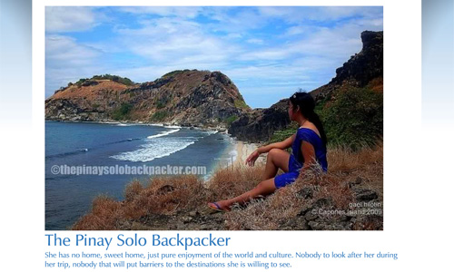 Pinay Solo Backpacker