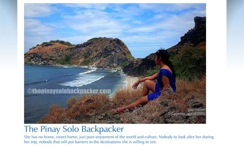 Pinay Solo Backpacker