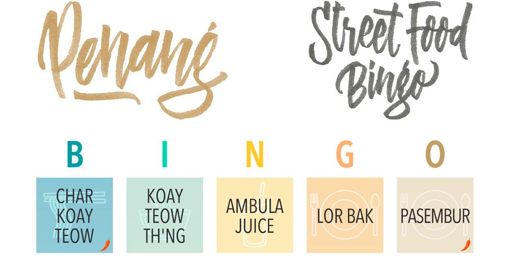 Penang Street Food Bingo