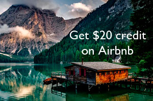 Get $20 travel credit from Airbnb